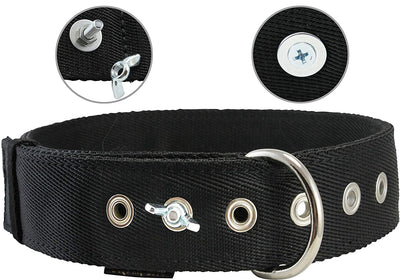 Bolted Heavy Duty Extra Wide Triple Layer Dog Collar for Medium to Large 15