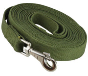 "Dog Leash 1"" Wide Cotton Web 15 Ft Long for Training Swivel Locking Snap, Pitt Bull, Amstaff"
