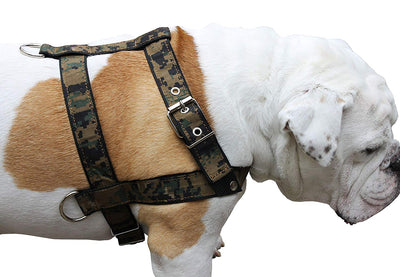 Camouflage Dog Training Walking Dog Harness 3 Sizes Nylon