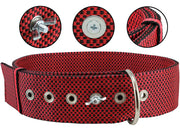 "Bolted Heavy Duty Extra Wide Triple Layer Tie Out Dog Collar for XLarge Dogs 20""-24"" Neck, 2"" Wide"