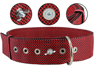 Bolted Heavy Duty Extra Wide Triple Layer Tie Out Dog Collar for XLarge Dogs 20