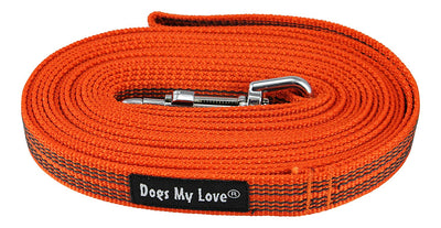 Dogs My Love Comfort Grip Non-Slip Dog Leash 4ft to 30ft long for Smal and Medium Dogs 5/8-inch Wide