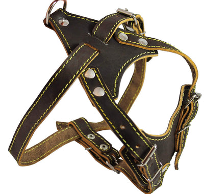 Real Leather Dog Harness, 24.5