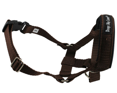 Dog Head Collar Halter Brown 5 Sizes
