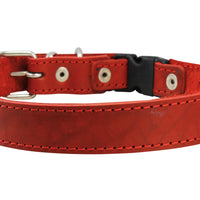 "Quick Release Genuine Leather Classing Dog Collar 1"" Wide Adjustable Fits 17""-20"" Neck Medium to Large"