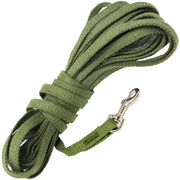 "Dogs My Love 30ft Cotton Web Tracking Dog Leash 3/8"" Wide Extra Long Training Lead Small"