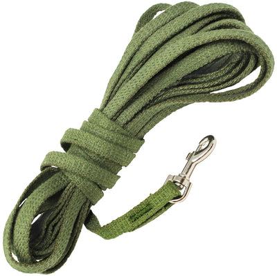 Dogs My Love 30ft Cotton Web Tracking Dog Leash 3/8