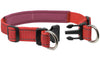 "Soft Neoprene Padded Adjustable Reflective 1"" Wide 2 Rings Design Dog Collar Red 3 Sizes"