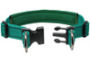 "Soft Neoprene Padded Adjustable Reflective 1"" Wide 2 Rings Design Dog Collar Green 3 Sizes"
