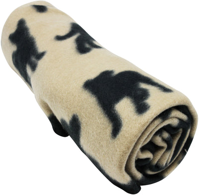 Fleece Blanket Dog Cat Bed Cover Paw Bone Pattern Mat Bedding Pad