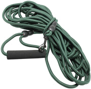 "Braided Nylon Rope Tracking Dog Leash, Green 30-Feet 3/8"" Diameter Training Lead Medium"