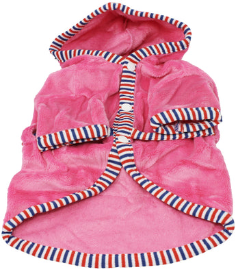 Pink Dog Bathrobe for Small Breeds