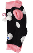 Dog Sweater Knitted Pullover Warm Winter Clothing Pink and Black 4 Sizes XSmall Small