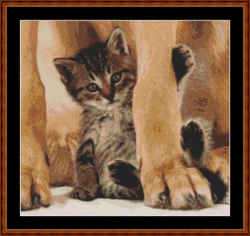 CAT'S BEST FRIEND - Cross Stitch Pattern *PDF File*