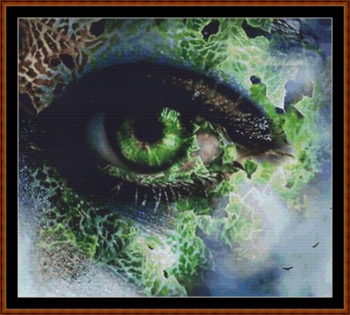 EMERALD EYE Cross Stitch Pattern *PDF File*