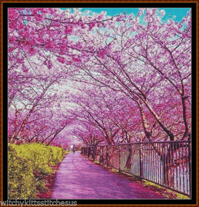 Cross Stitch Pattern *PDF File* ( Pattern ) - SPRING WALK *PDF File*