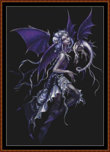 Cross Stitch Pattern *PDF File* ( Pattern ) - PURPLE FAIRY *PDF File*