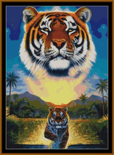 Tapestry Chart ( Pattern ) - GUARDIAN TIGER *PDF File*