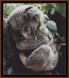 Cross Stitch Pattern *PDF File* ( Pattern ) - SLEEPY KOALA *PDF File*