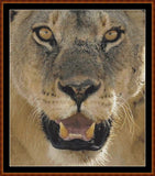 Cross Stitch Pattern *PDF File* ( Pattern ) - LION ! (small) *PDF File*