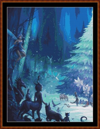 Cross Stitch Pattern *PDF File* ( Pattern ) - MAGICAL FOREST CHRISTMAS 1 (small) *PDF File