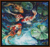 FISH POND Cross Stitch Pattern *PDF File*