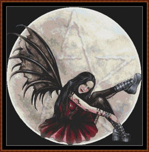 FAIRY MOON PENTAGRAM Cross Stitch Pattern *PDF File*