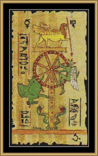 EGYPTIAN PAPYRUS - WHEEL OF LIFE Cross Stitch Pattern *PDF File*