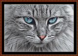 Cross Stitch Pattern</strong> - </span> BLUE EYES (small) *PDF File*