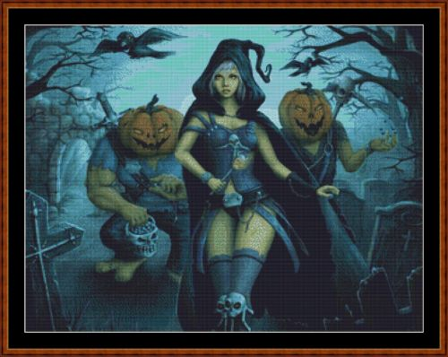 Cross Stitch Pattern *PDF File* ( Pattern ) - TRICK OR TREAT (small) *PDF File