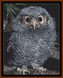 Cross Stitch Pattern</strong> - </span> BABY OWL *PDF File*