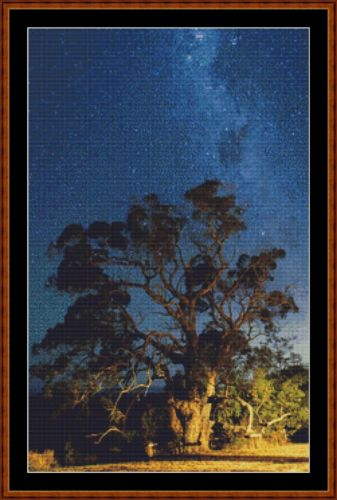 Cross Stitch Pattern *PDF File* ( Pattern ) - RITUAL TREE (small) *PDF File*