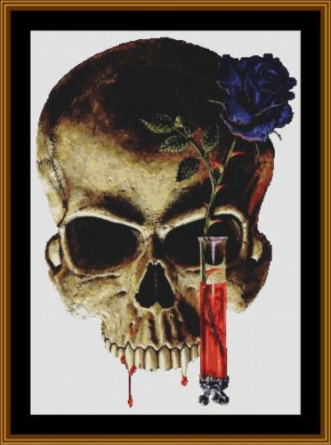 Cross Stitch Pattern *PDF File* ( Pattern ) - SKULL ! *PDF File*