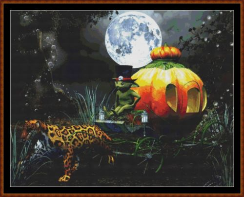 PUMPKIN RIDE Cross Stitch Pattern *PDF File*