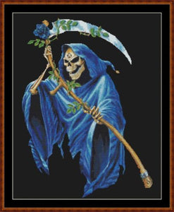 Cross Stitch Pattern</strong> - </span> BLUE GRIM *PDF File*