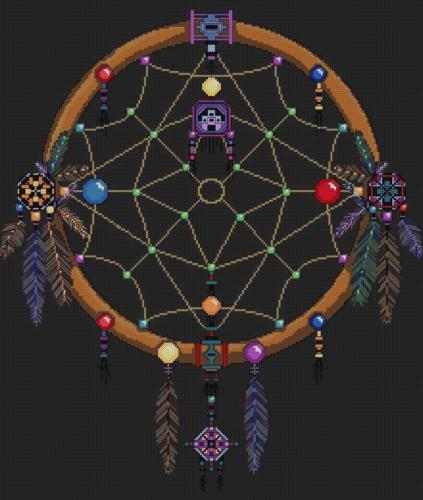 DREAMCATCHER - SINGLE RING Cross Stitch Pattern *PDF File*
