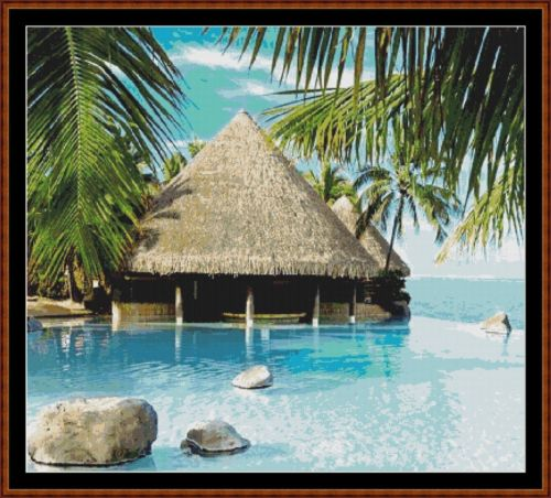 Cross Stitch Pattern *PDF File* ( Pattern ) - PARADISE *PDF File*
