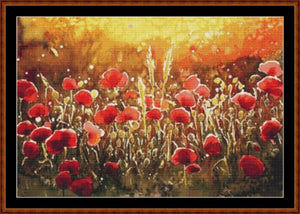 Cross Stitch Pattern *PDF File* ( Pattern ) - POPPIES (small) *PDF File*
