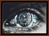 Cross Stitch Pattern *PDF File* ( Pattern ) - TIME'S EYE (small) *PDF File*
