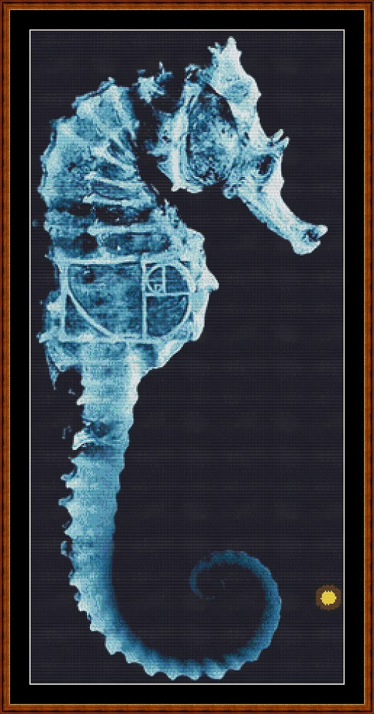FRINGE 1 - SEAHORSE Cross Stitch Pattern *PDF File*