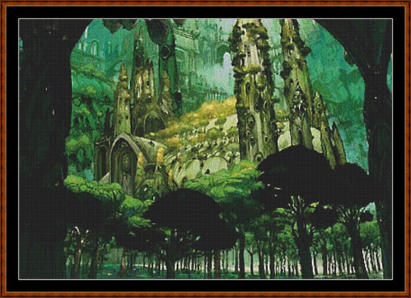 FOREST CASTLE Cross Stitch Pattern *PDF File*