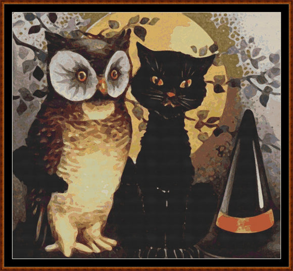 THE OWL & THE PUSSY CAT Cross Stitch Pattern * PDF File*