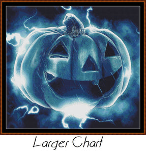 PUMPKIN CHARGE Cross Stitch Pattern * PDF File*