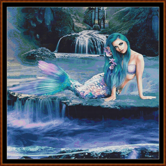 IRIDESCENT MERMAID Cross Stitch Pattern * PDF File*