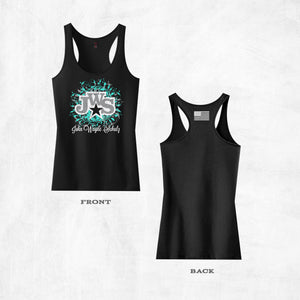 Black JWS Racer Back Tank Top