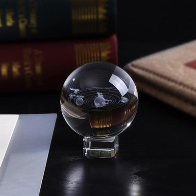 "100mm/3.9"" Solaris™ Globe Laser Engraved Glass Item Wat Crate"