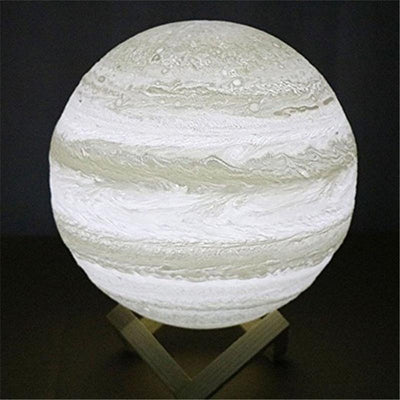 3D Jupiter LED Lamp - Touch USB Rechargable LED Lamp Wat Crate