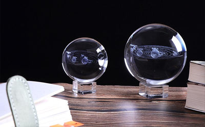 3D Solar System Crystal Ball 60/80mm Crystal Globe Wat Crate