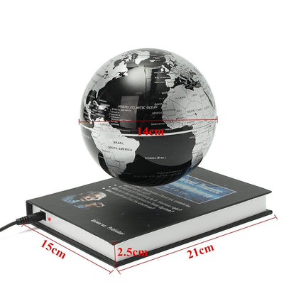 6'' Magnetic Levitation Rotating Earth Globe Map Maglev Wat Crate