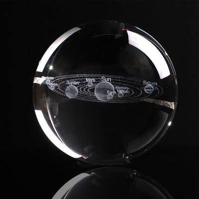 "60mm/2.35"" Solaris™ Globe Laser Engraved Glass Item Wat Crate Just The Globe"